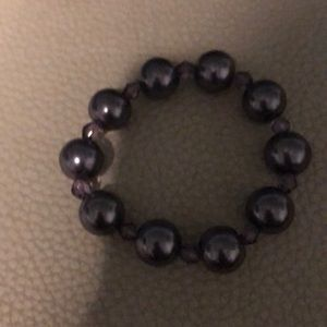 Jewelry - Costume Purple Pearl Bracelet